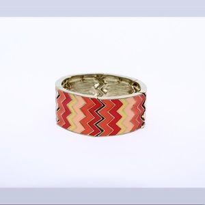 Jewelry - 🚨 5/$20 Gorgeous colorful chevron bracelet NWOT